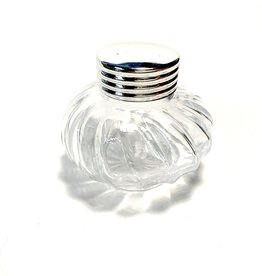 Silver Plated Crystal Glass Ink Well with Cap