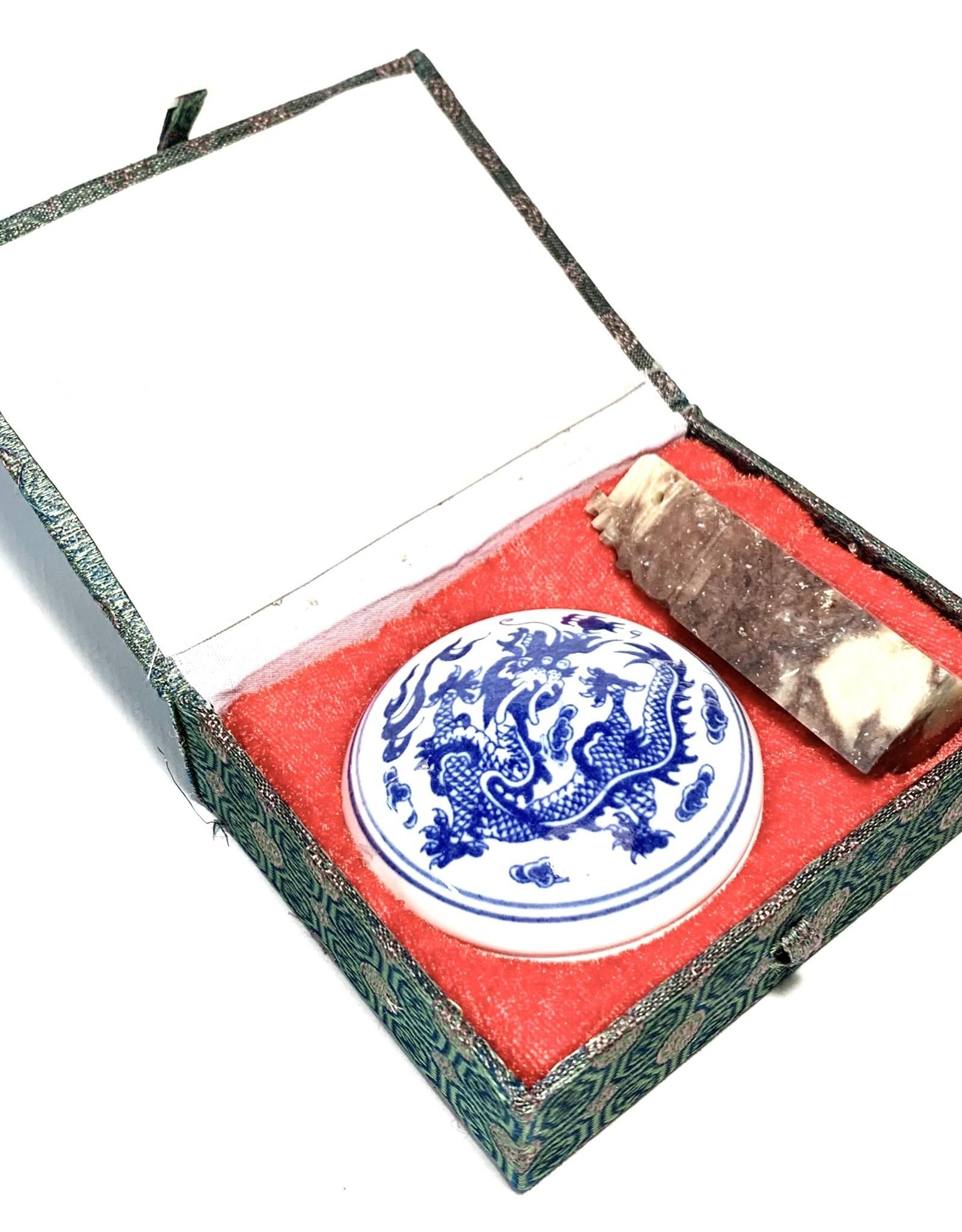 Stone Seal Chop and Ink Pad Set
