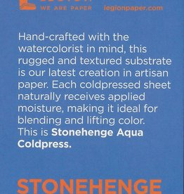 "Stonehenge Aqua White, 140# Cold Press, 2.5"" x 3.75"" 10 Sheet Pad"
