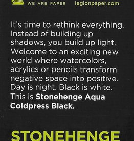 "Stonehenge Aqua Black, 140# Cold Press, 2.5"" x 3.75"" 10 Sheet Pad"