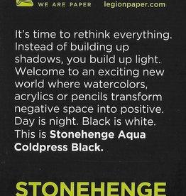 "Stonehenge Aqua Black, 140# Cold Press, 2.5"" x 3.75"" 10 Sheet Pad"