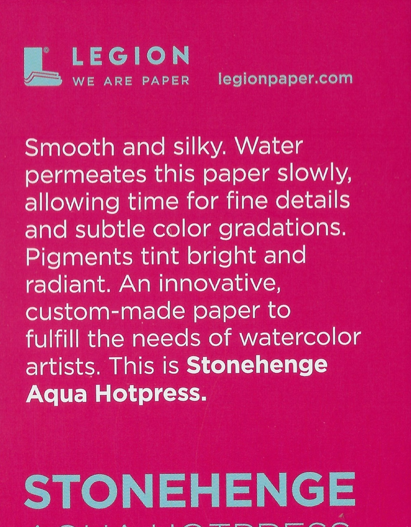 "Stonehenge Aqua White, 140# Hot Press, 2.5"" x 3.75"" 10 Sheet Pad"
