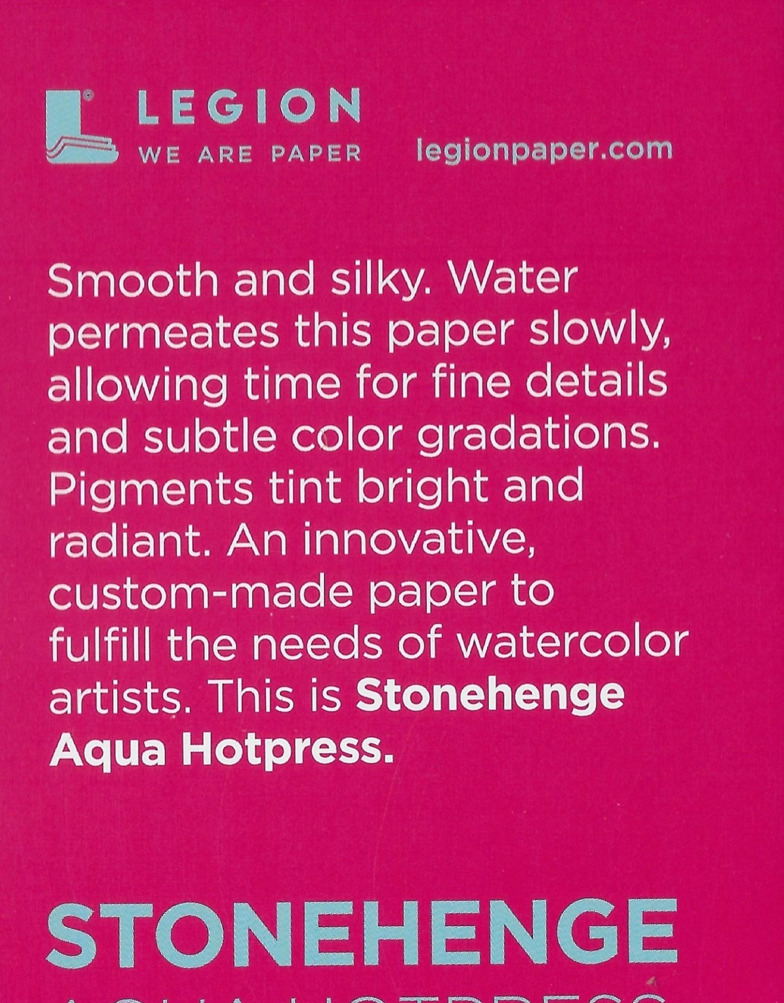 """Stonehenge Aqua White, 140# Hot Press, 2.5"""" x 3.75"""" 10 Sheet Pad"""