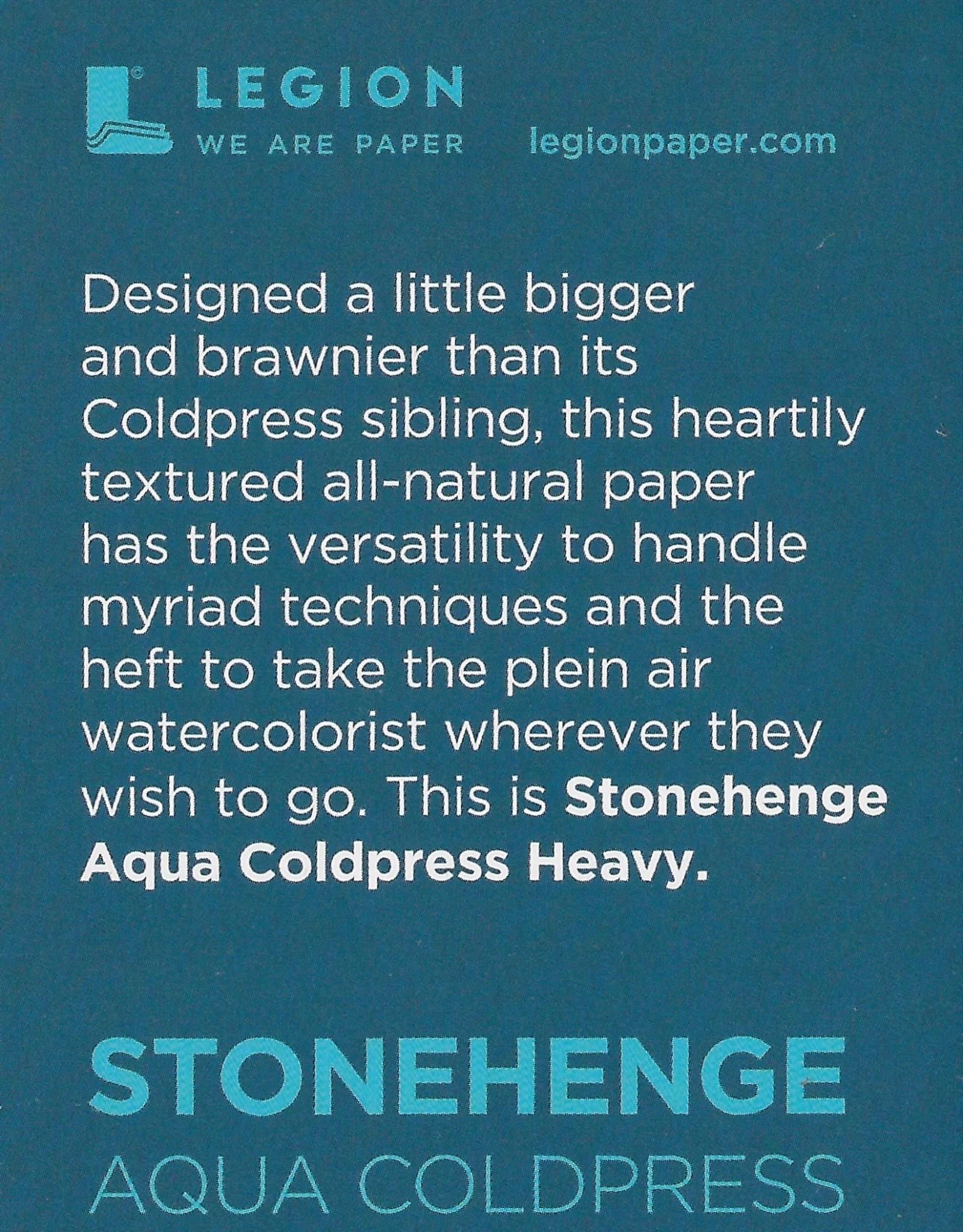 """Stonehenge Aqua White, 300# Cold Press, 2.5"""" x 3.75"""" 10 Sheet Pad"""