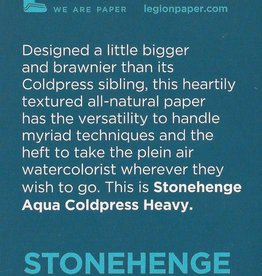 "Stonehenge Aqua White, 300# Cold Press, 2.5"" x 3.75"" 10 Sheet Pad"