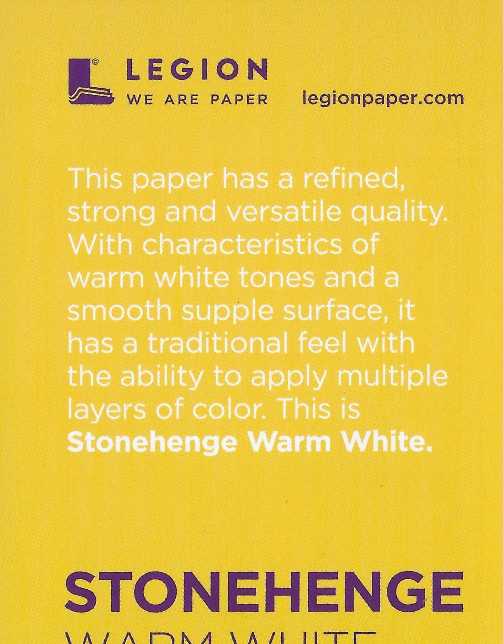 "Stonehenge Warm White, 2.5"" x 3.75"" 15 Sheet Pad"