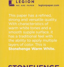 "Stonehenge Warm White, 2.5"" x 3.75"" 15 Sheet Pad"
