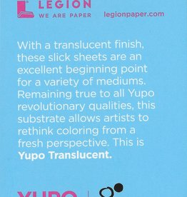 "Yupo Translucent Clear, 2.5"" x 3.75"" 15 Sheet Pad"