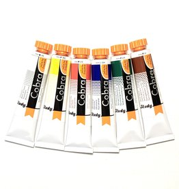 Cobra Water Soluble Study Set 6 Colors, 20ml Tubes