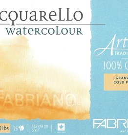 "Fabriano Artistico Cold Press, Traditional White Block 5"" x 7"", 300gsm, 25 Sheets"