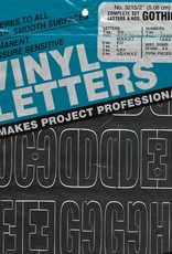 Duro Vinyl Letters  & Numbers Set, Gothic