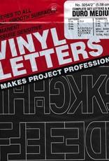 Duro Vinyl Letters  & Numbers Set, Medium