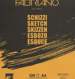"Fabriano Schizzi Sketch Pad, Spiral Bound-Micro Perforated, 8.25""x 11.75"", 120 Sheets, 90gsm"