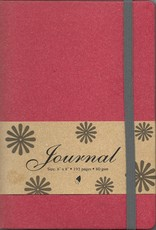 "Red Journal with Gridded Lines, 6"" x 8"", 192 pages"