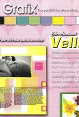 """Grafix, Color Assortment Vellum, 8.5"""" x 11"""", 10 Different Colors, 40 Total Sheets"""