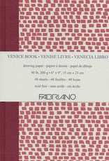 "Fabriano Venice Sketch Book, Drawing Paper, 48 sheets, 6"" x 9"", 90#/200gsm"