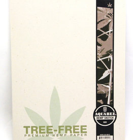 "Aquabee, 9""x12"", Hemp Sketch Book, 70lb/130gsm, 20 Sheets, 100% Recycled"