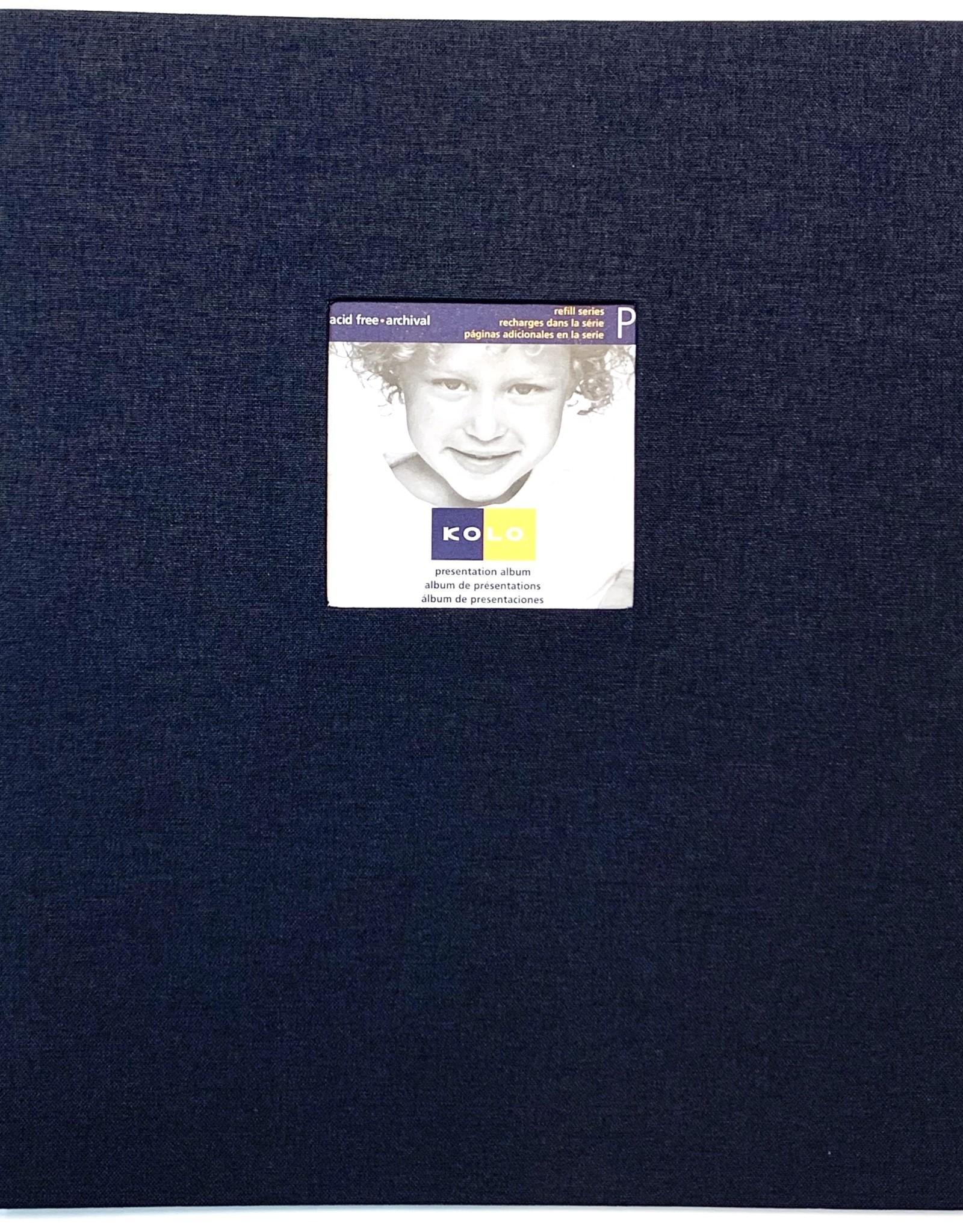 "Kolo, Black Presentation Album, Presentation Book, 8.5"" x 11"""