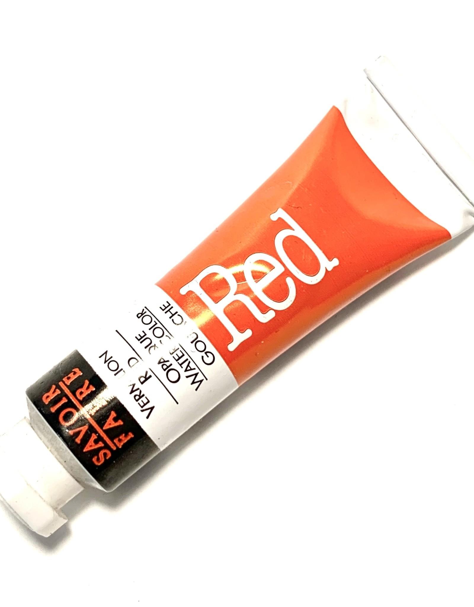 Opaque Watercolor Gouache, Vermilion Red, 10ml Tube