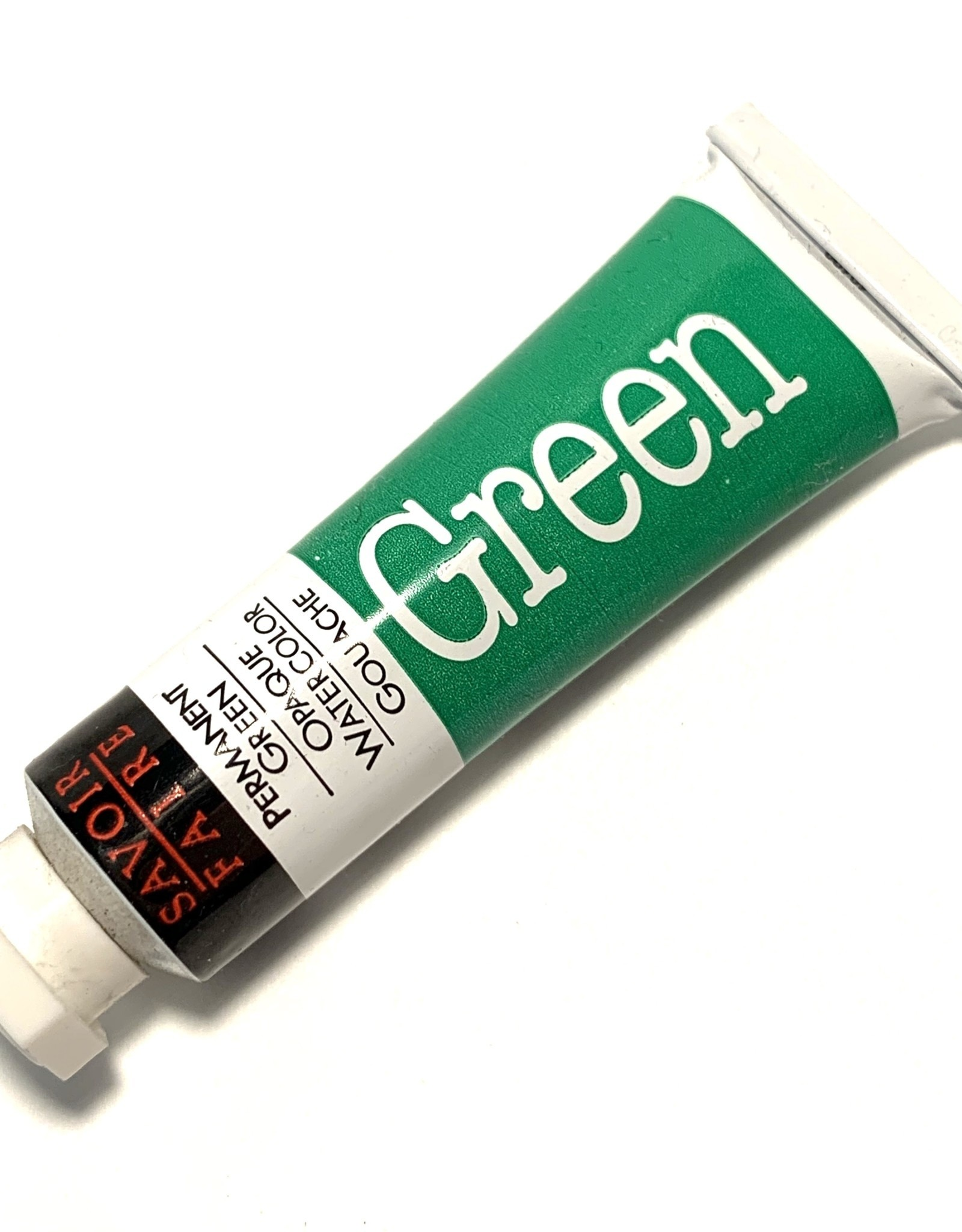 Opaque Watercolor Gouache, Permanent Green, 10ml Tube