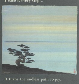 "Brush Dance, Blank Card 4.75"" x 6.75"", Peace is every step"