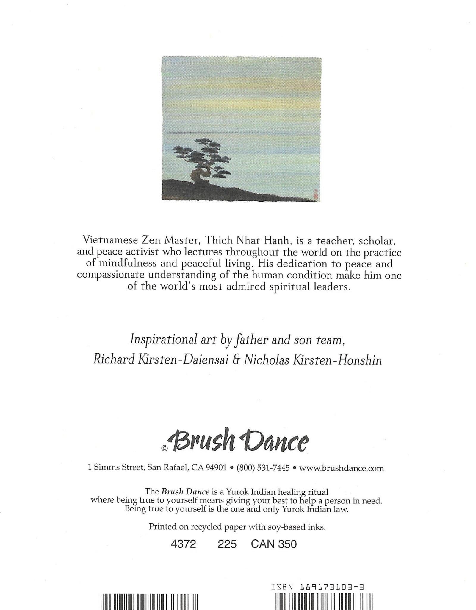 "Brush Dance, Blank Card 4.75"" x 6.75"", Peace is every step"