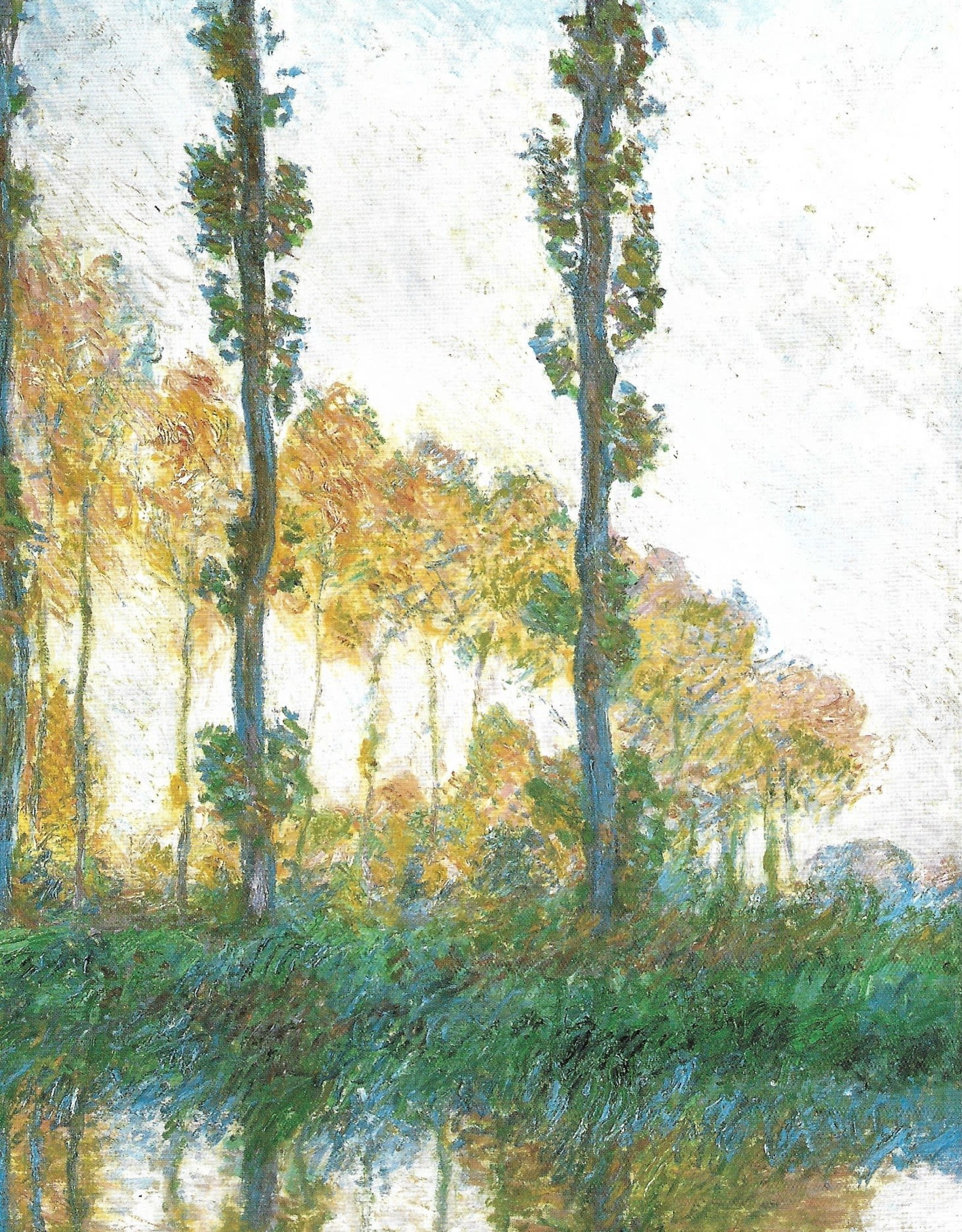 "Galison Art Card, Blank Card 5"" x 6.75"", Monet, The Three Trees"