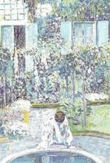 "Galison Art Card, Blank Card 5"" x 6.75"", Frieseke, Garden Mirror"