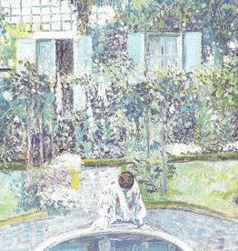 "Galison Art Card, Blank Card 5"" x 6.75"", Frieseke, Garden Mirror"