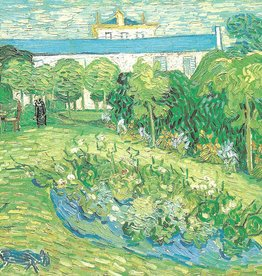"Galison Art Card, Blank Card 5"" x 6.75"", Van Gogh, Daubigny's Garden"