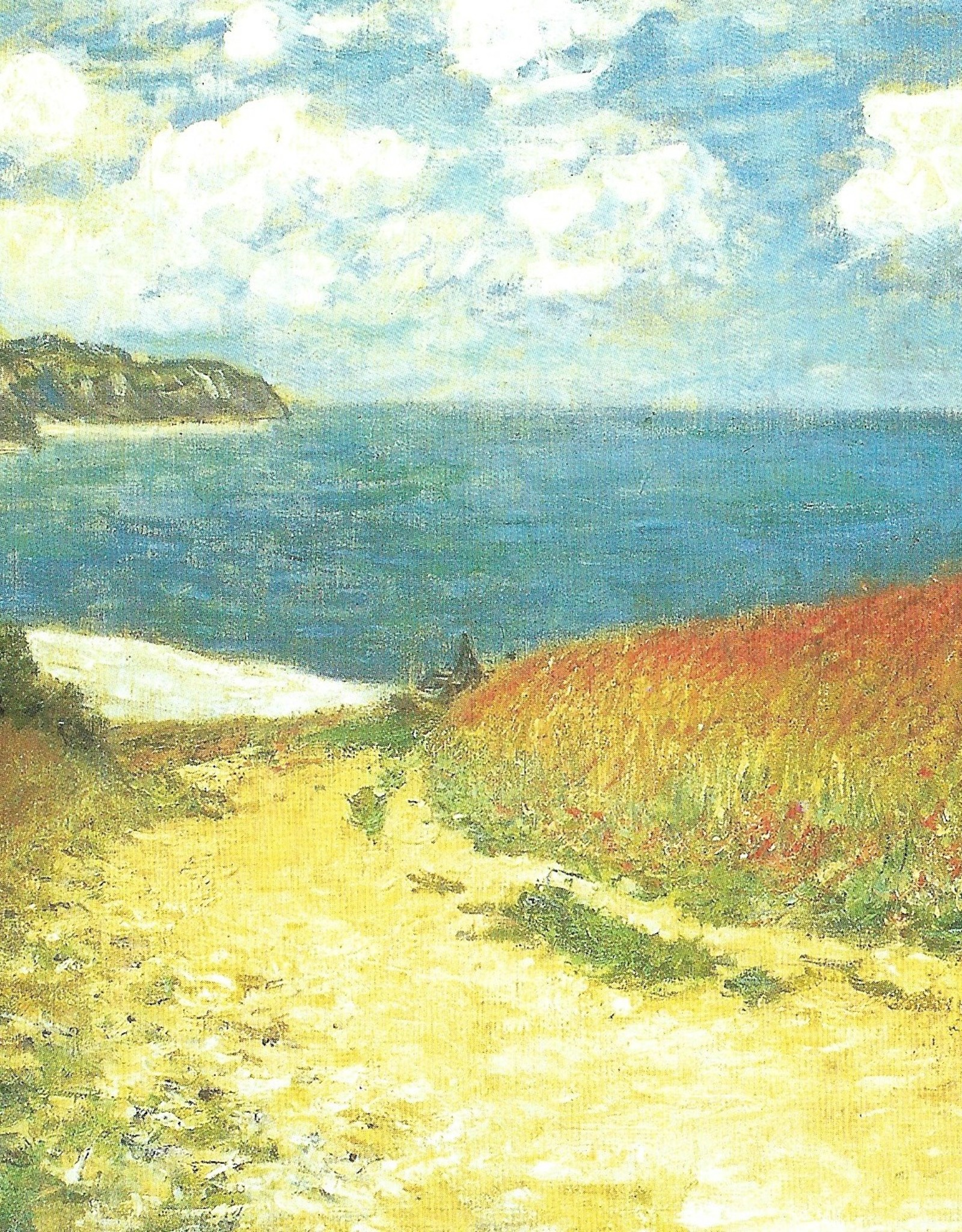 "Galison Art Card, Blank Card 5"" x 6.75"", Monet, The Meadow Road to Pourville"