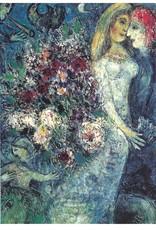 """Galison Art Card, Blank Card 5"""" x 6.75"""", Chagall, La Fiancee au Collier"""