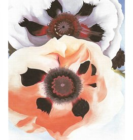 "Galison Art Card, Blank Card 5"" x 6.75"", O'Keeffe, Poppies"