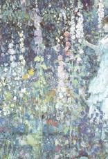 """Galison Art Card, Blank Card 5"""" x 6.75"""", Frieseke, Hollyhocks"""