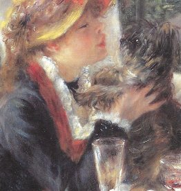 "Galison Art Card, Blank Card 3.5"" x 5"", Renoir, Detail from the Luncheon of the Boating Party"