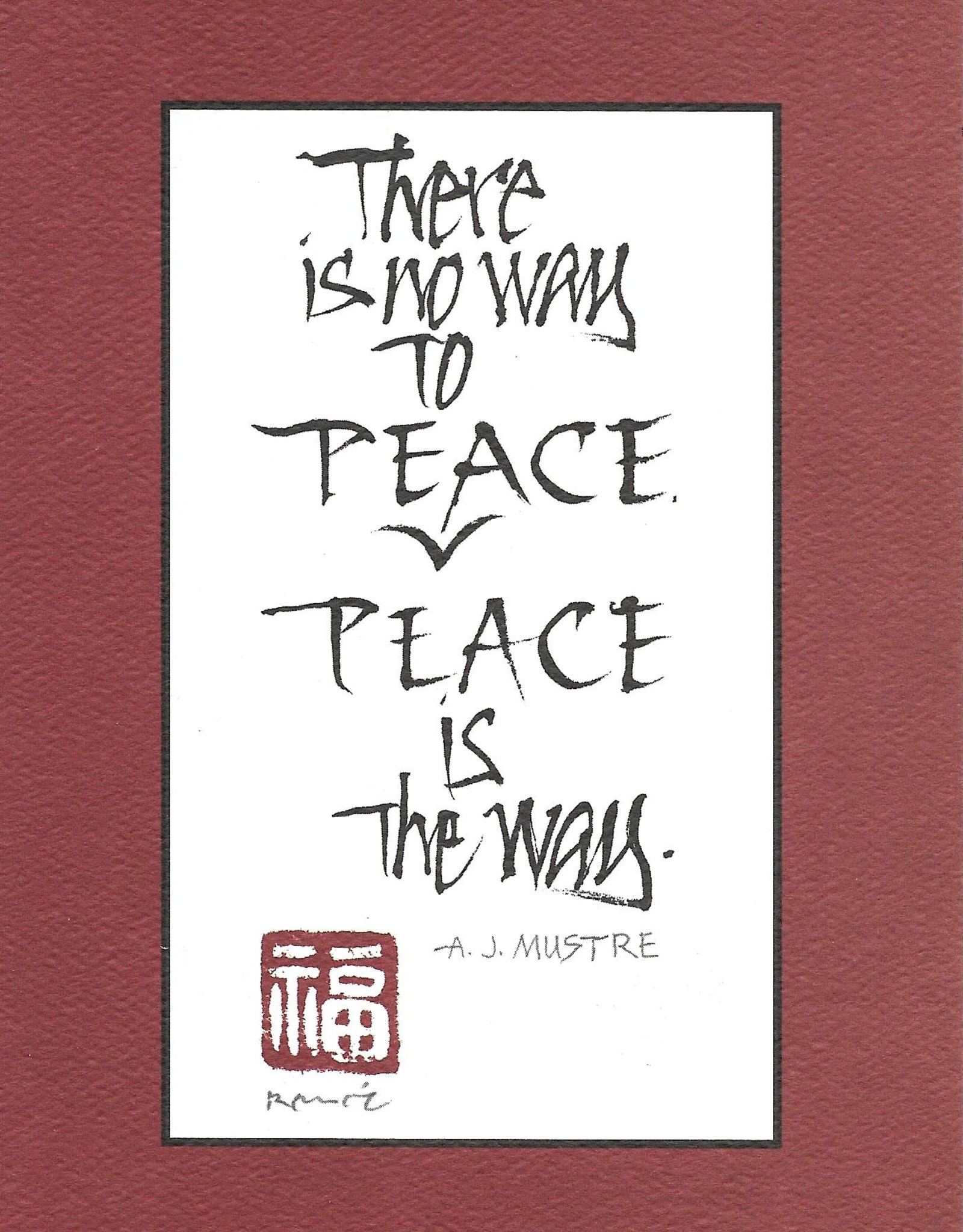 "Brush Dance, Blank Card 4.75"" x 6.75"", Peace is the Way"