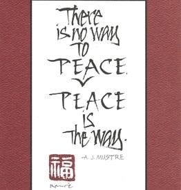 "Brush Dance, Blank Card 4.75"" x 6.75"", Peace is the Way"