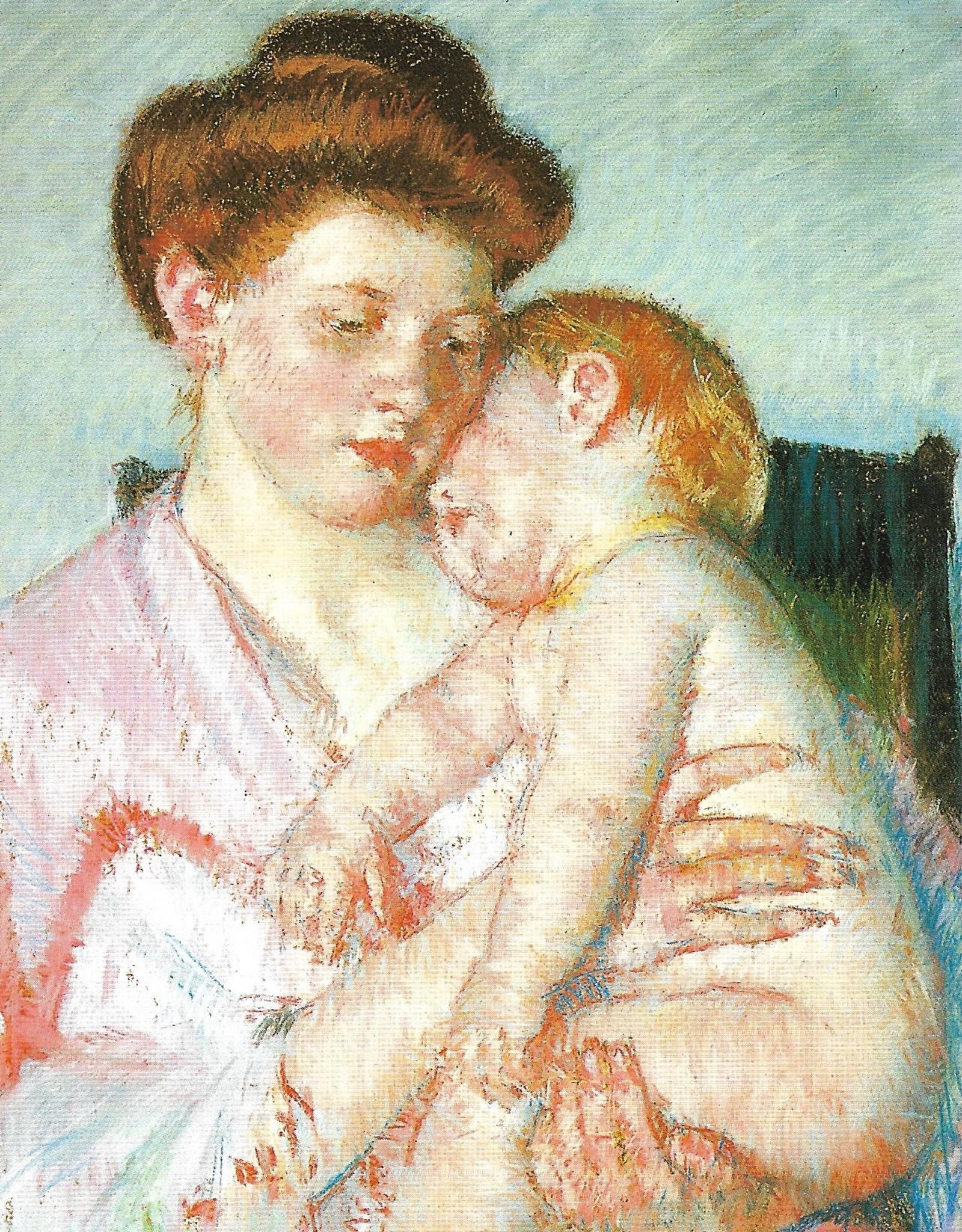 "Galison Art Card, Blank Card 3.5"" x 5"", Cassatt, Sleepy Baby"