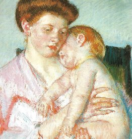 "Galison Art Card, Blank Card 3.5"" x 5"", Cassatt, Sleepy Baby"