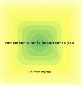 "Quotable Cards, Blank Card 5"" x 5"", Remember what is important to you"