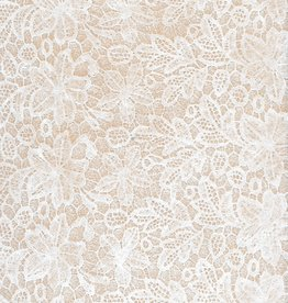"Ivory Lace Flowers and Leaves, 8.5"" x 11"", 100 Sheet Pack"