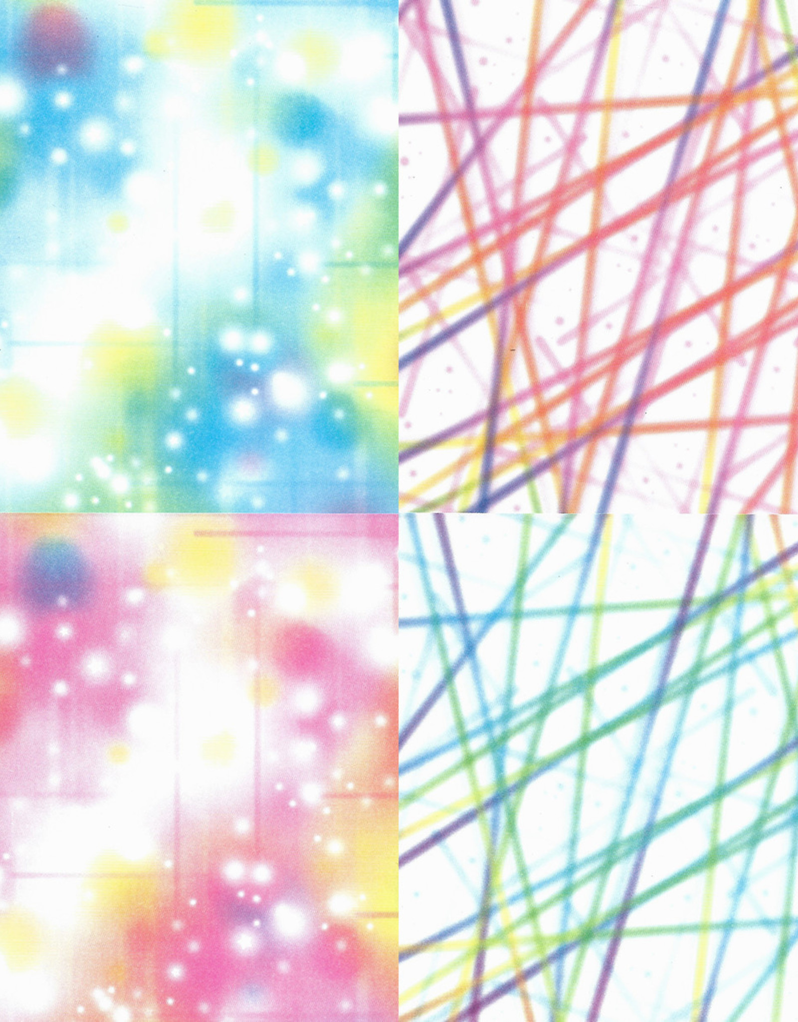 """Origami Bubbles and Lines, 6"""" x 6"""", 2 Different Patterns in 2 Different Colors, 24 Total Sheets"""