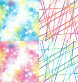 "Origami Bubbles and Lines, 6"" x 6"", 2 Different Patterns in 2 Different Colors, 24 Total Sheets"