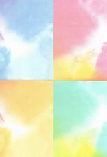 "Origami, 6"" x 6"", Yosumi Bokashi Chiyogami, 10 Sheets of 4 Different Colors, 40 Total Sheets"