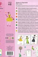 Djeco Stickers & Paper Dolls, Dresses Through the Seasons