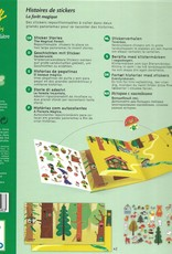 Djeco Sticker Stories, The Magical Forest, 1 Book with 50 Repositionable Stickers