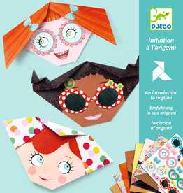 "Djeco Origami Pretty Faces with Stickers, 7.8"" x 7.8"", 24 Sheets"