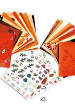 "Djeco Origami Animal Faces with Stickers, 7.8"" x 7.8"", 24 Sheets"