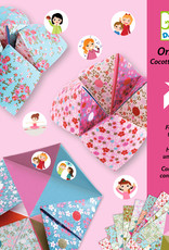 "Djeco Origami Fortune Tellers with Flower Designs and Stickers, 7.8"" x 7.8"", 24 Sheets"