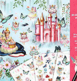 Djeco In Fairyland, Scratch Transfer Set of 3 Pages with 90 Transfers